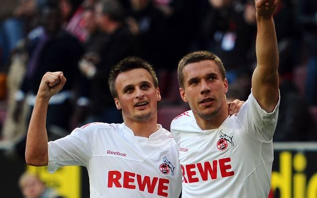 Slawomir Peszko (l.) spielte bei Köln an der Seite von Lukas Podolski (r.)