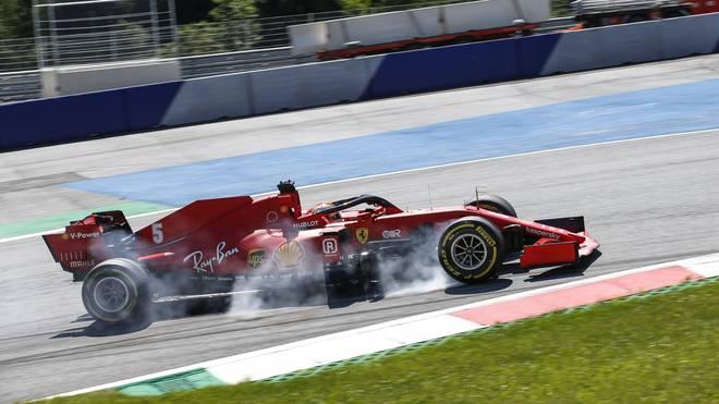 Sebastian Vettel brachte sich mit seinem Verbremser selbst in Not