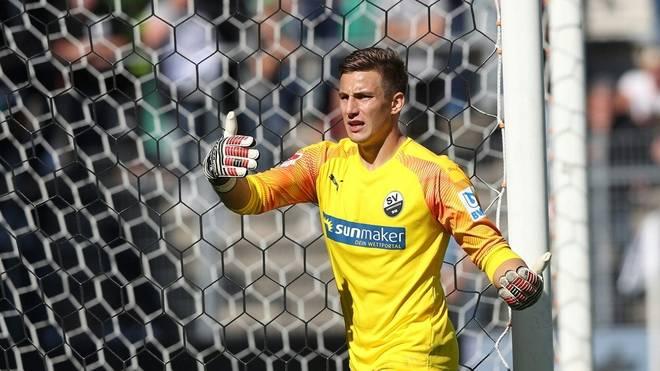 Vor seiner Suspendierung stand Martin Fraisl in elf von 13 Spielen im Tor von Sandhausen