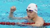 Sun Yang gewann Gold über 400 und 200 m Freistil