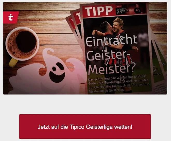 In der Tipico Geisterliga kann man auch auf Eintracht Frankfurt als Geister-Meister tippen