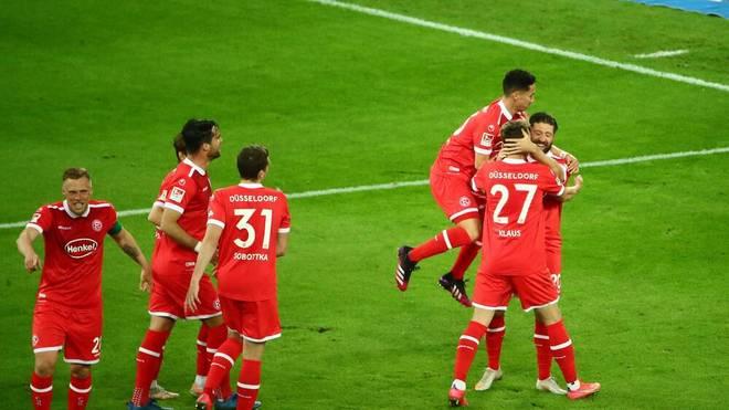Fortuna Düsseldorf feiert einen Last-Minute-Sieg gegen den Karlsruher SC