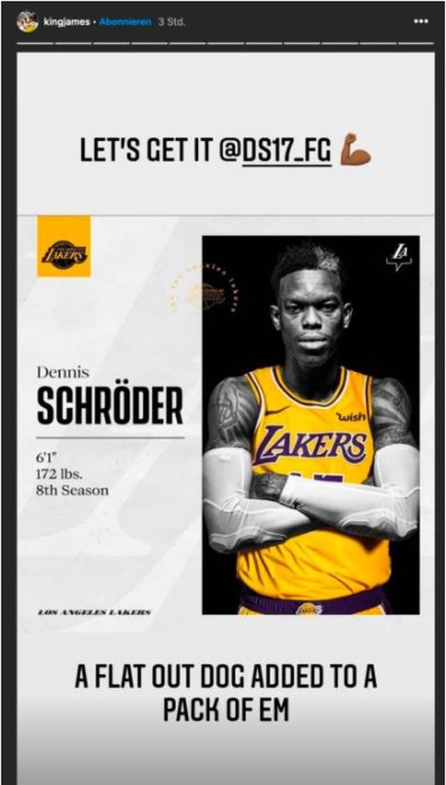 LeBron James begrüßt Dennis Schröder bei den Lakers