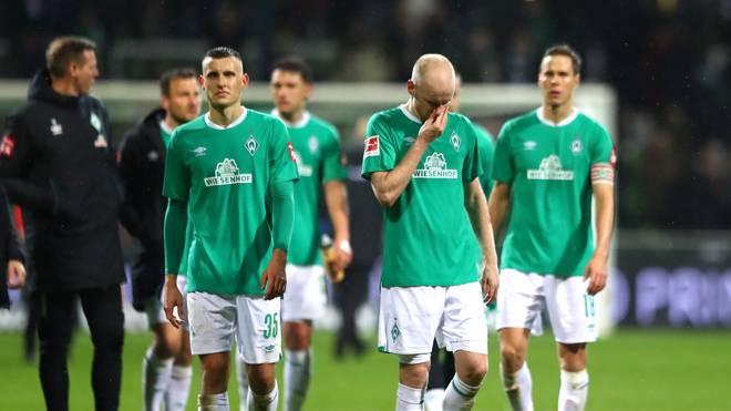 Werder Bremen steckt tief im Abstiegskampf der Bundesliga