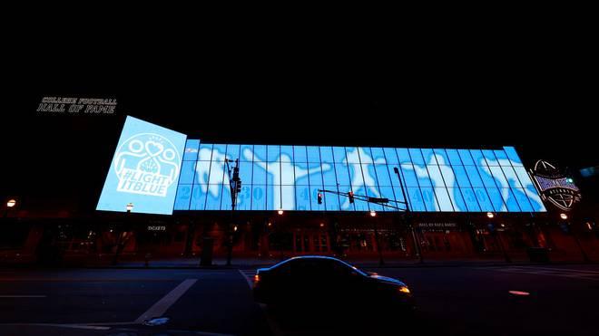 Die College Football Hall of Fame in Atlanta wurde beschädigt