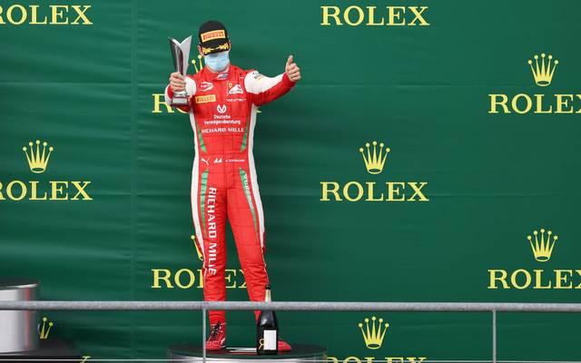 Mick Schumacher feiert seinen fünften Podestplatz der Saison