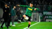 Moenchengladbach's Austrian defender Stefan Lainer controls the ball during the UEFA Europa League Group J football match Borussia Moenchengladbach v Roma in Moenchengladbach, western Germany, on November 7, 2019. (Photo by INA FASSBENDER / AFP) (Photo by INA FASSBENDER/AFP via Getty Images)