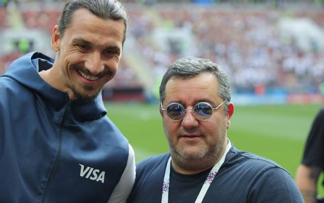 Spielerberater Mino Raiola (rechts) berät und vermittelt unter anderem Zlatan Ibrahimovic (links)
