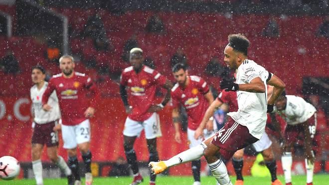Pierre-Emerick Aubameyang erzielte das Siegtor für den FC Arsenal gegen Manchester United