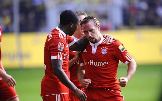 Edson Braafheid und Franck Ribéry im Einsatz für den FC Bayern