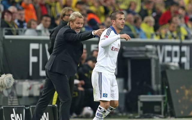 Hamburger SV als Trainer des Hamburger SV mit Rafael van der Vaart