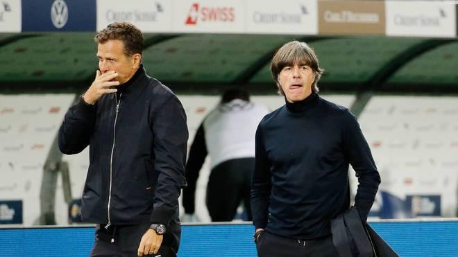 Oliver Bierhoff (l.) und Joachim Löw gehören zu den wichtigsten Persönlichkeiten in Fußball-Deutschland