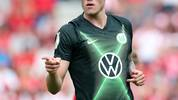 HALLE, GERMANY - AUGUST 12: Wout Weghorst of Wolfsburg celebrates after scoring the 1-1 equalizer against Hallescher FC during the DFB Cup first round match between Hallescher FC and VfL Wolfsburg at Erdgas-Sportpark on August 12, 2019 in Halle, Germany. (Photo by Ronny Hartmann/Bongarts/Getty Images)