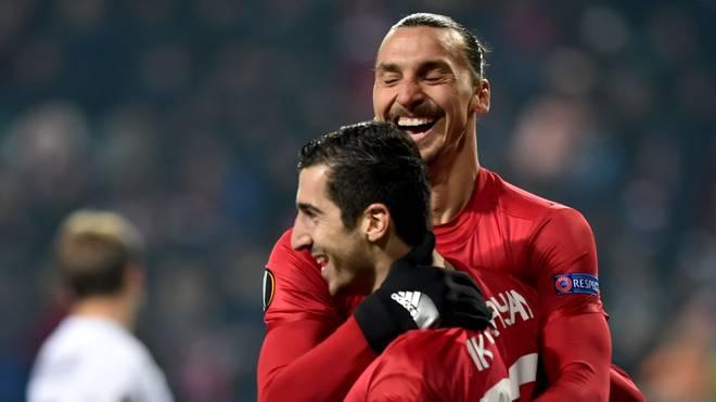 Henrikh Mkhitaryan spielt seit dieser Saison mit Zlatan Ibrahimovic zusammen