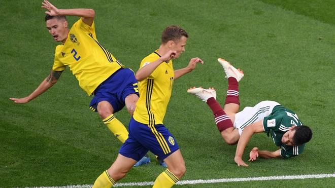 Beim Spiel Mexiko gegen Schweden ging es heiß her