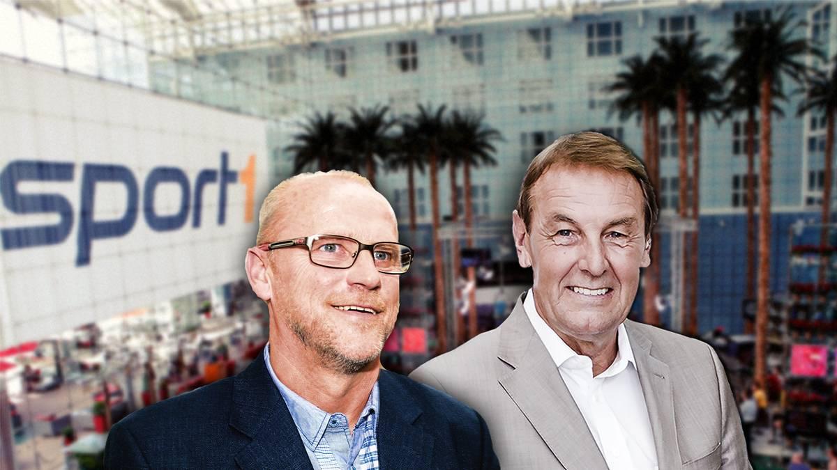 Thomas Schaaf (l.) ist zu Gast bei Jörg Wontorra im Volkswagen Doppelpass