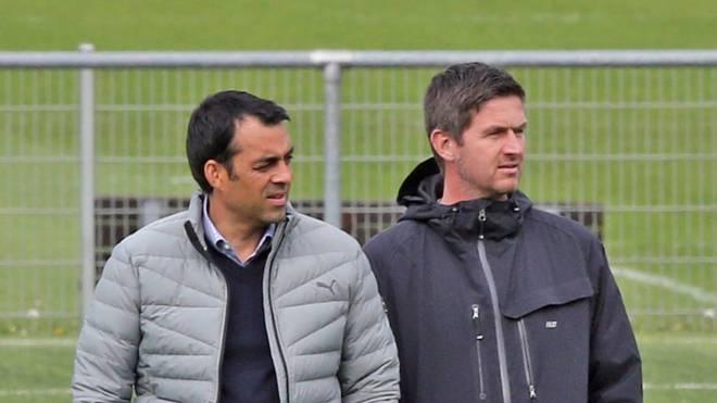 Ralf Becker (r.) arbeitete beim VfB Stuttgart als Chefscout eng mit Robin Dutt zusammen