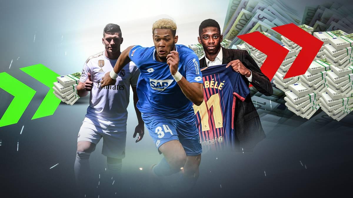 Luka Jovic, Joelinton, Ousmane Dembélé - welche Spieler haben die größte Gewinnspanne auf dem Transfermarkt?