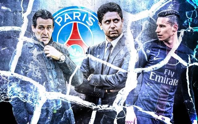 Unai Emery, Nasser Al-Khelaifi, Julian Draxler, PSG, Paris Saint-Germain, Champions League, FC Barcelona