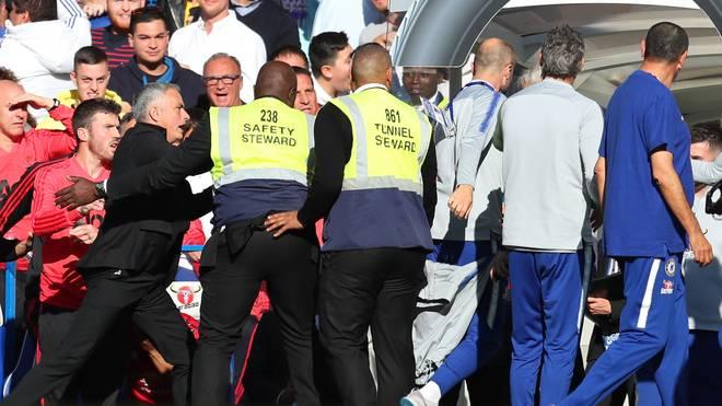 Jose Mourinho geriet am Samstag mit Marco Ianni aneinander