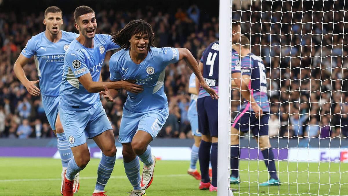 Nathan Aké erzielte für Manchester City sein erstes Tor in der Champions League