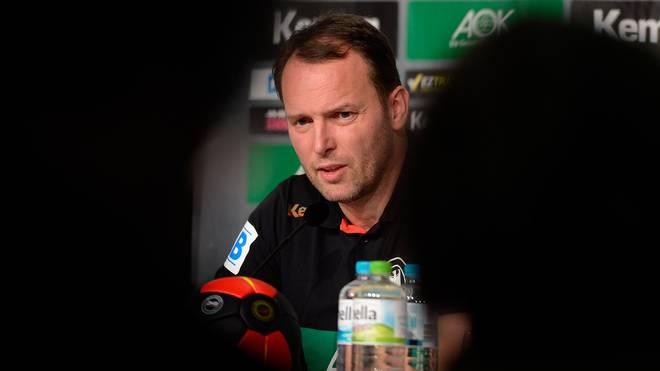 Bundestrainer Dagur Sigurdsson beim DHB Media Day während der Handball-WM in Katar