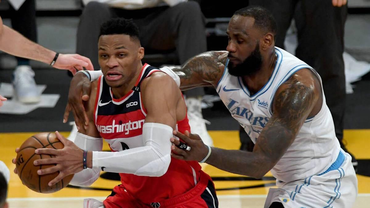 Spielen Russell Westbrook (l.) und LeBron James in Zukunft gemeinsam für die Lakers?