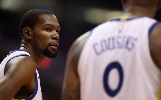 Die Golden State Warriors hoffen in den NBA-Finals auf eine Rückkehr von Kevin Durant und DeMarcus Cousins
