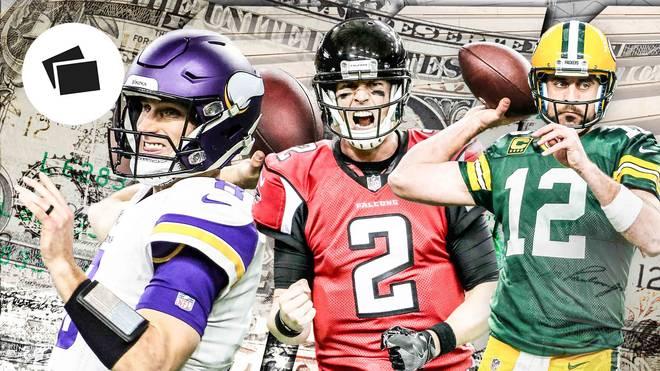 Kirk Cousins, Matt Ryan und Aaron Rodgers (v.l.) gehören zu den Star-Quarterbacks der NFL