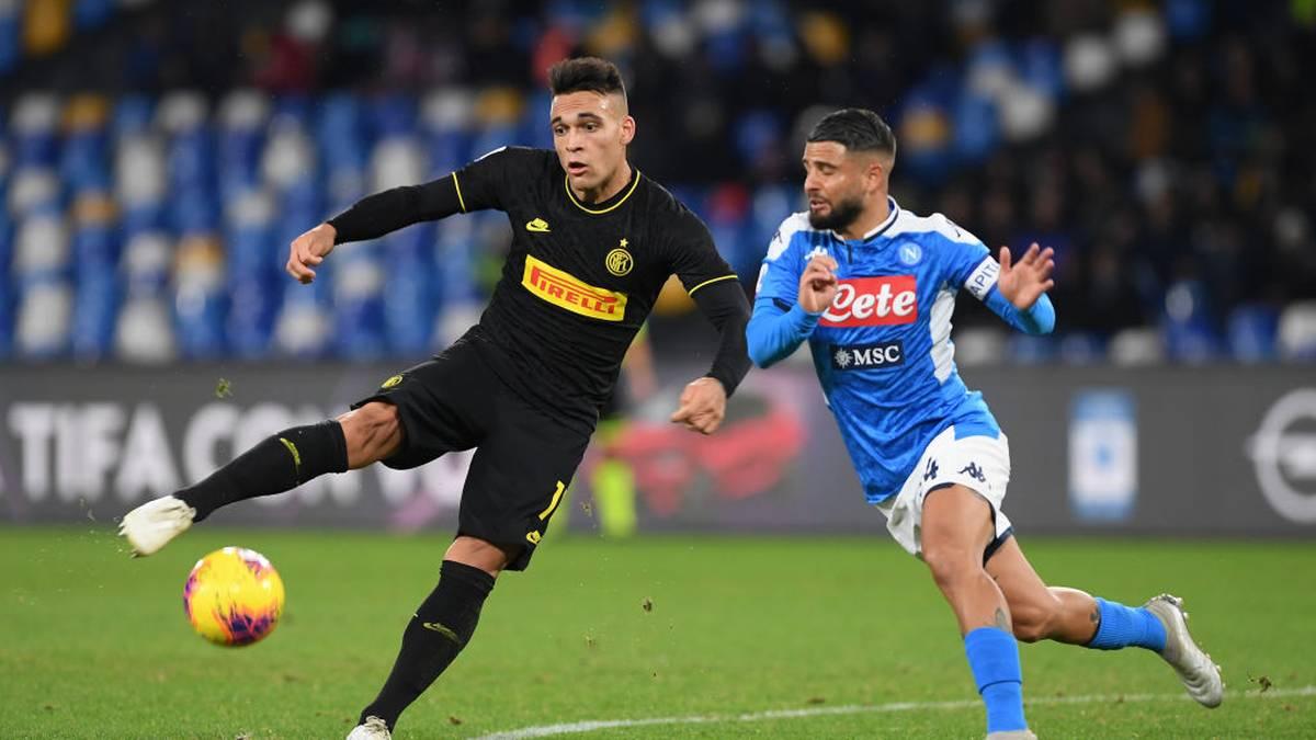 Das Spiel zwischen Neapel und Inter wird wegen des Coronavirus abgesagt