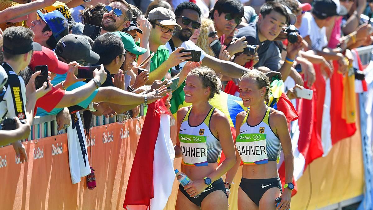 Die Hahner-Zwillinge ließen sich in Rio trotz des ernüchternden Abschneidens feiern