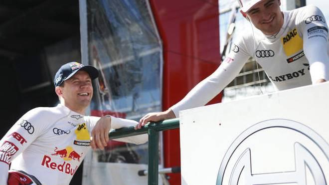 Die Audi-Teamkollegen Mattias Ekström und Nico Müller verstehen sich gut