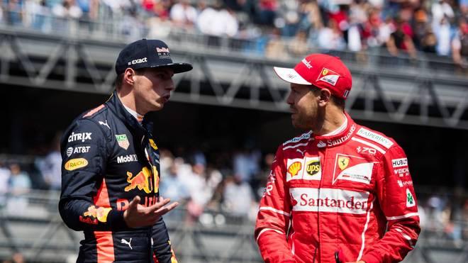 Max Verstappen und Sebastian Vettel landeten außerhalb der Podiumsplätze