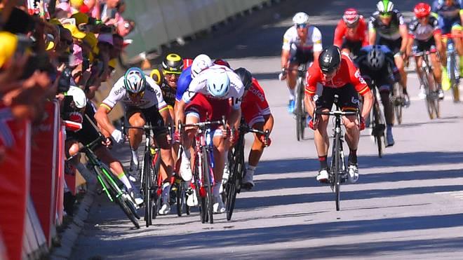 Peter Sagan sorgte mit seinem Rempler gegen Mark Cavendish bei der Tour de France 2017 für einen Skandal