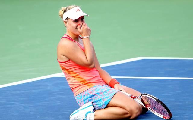 Angelique Kerber kann es nicht fassen: Sie erreicht 2011 das Halbfinale der US Open