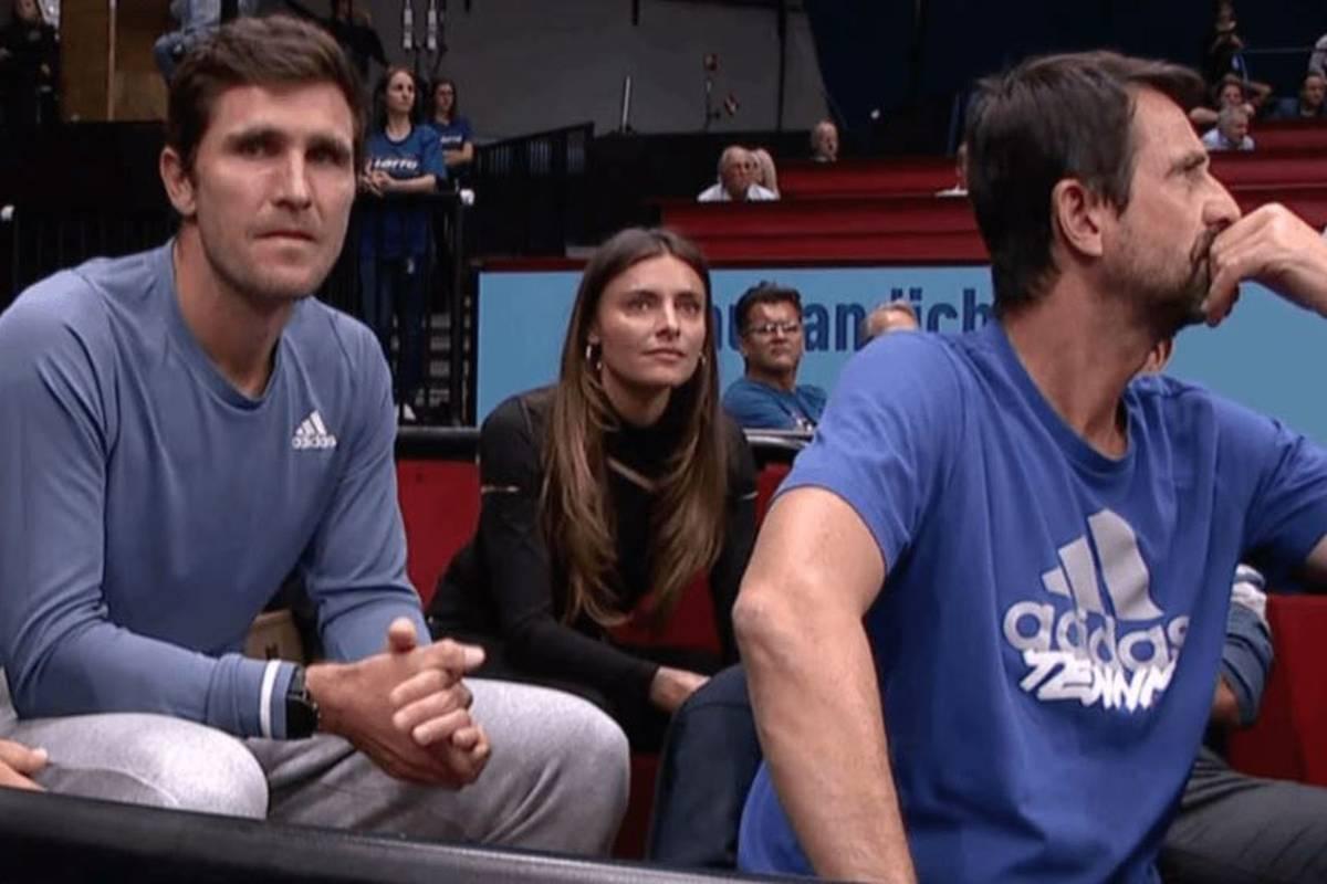 Starlet Sophia Thomalla war aus nächster Nähe dabei, als ihre neue Liebe Alexander Zverev beim Turnier in Wien in die zweite Runde einzog