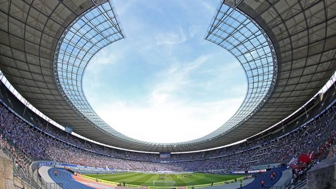 Das Berliner Olympiastadion war bei der Partie Hertha gegen Bayern nicht ausverkauft