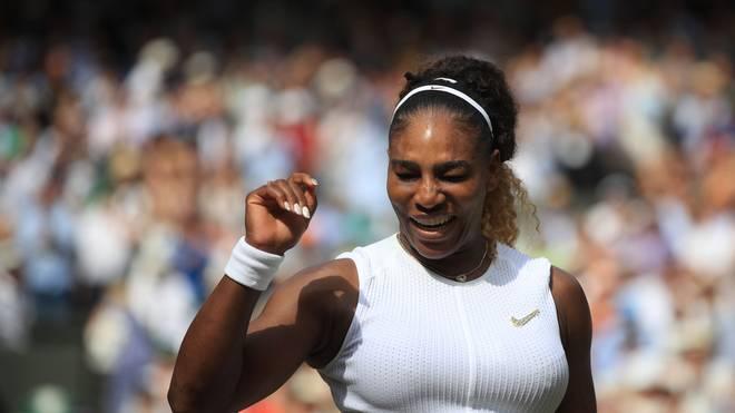 TENNIS-GBR-WIMBLEDON Serena Williams steht zum elften Mal im Finale von Wimbledon