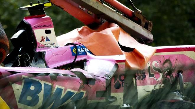 Das zerstörte Auto von Anthoine Hubert