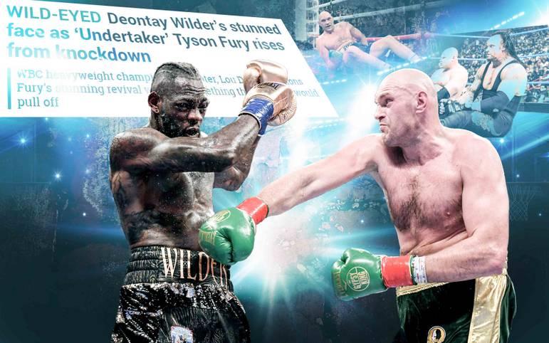 Tyson Fury ist wieder da: Der Brite (r.) holt nach zwei Jahren voller persönlicher Niederschläge ein Unentschieden gegen WBC-Champion Deontay Wilder und verpasst den Sieg nur hauchdünn