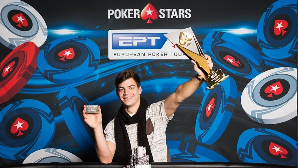 Paul Michaelis freut sich über seinen ersten Sieg auf der European Poker Tour