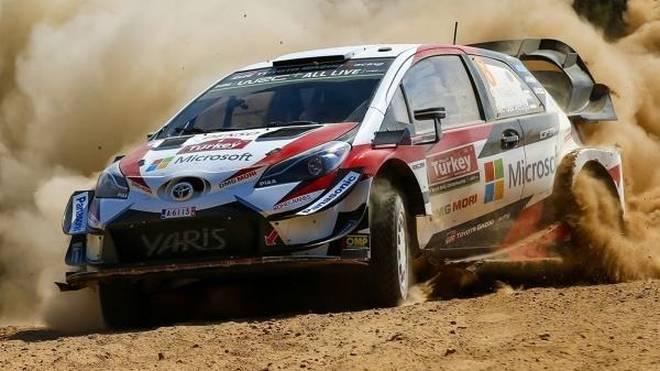 Toyota-Fahrer Ott Tänak gewann seine dritte Rallye in Serie