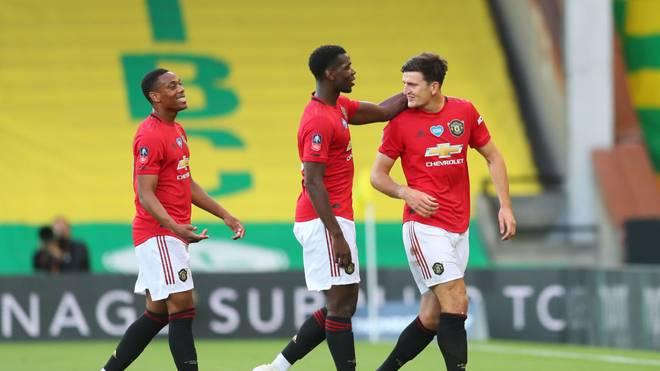 Harry Maguire (r.) traf in der Verlängerung für Manchester United