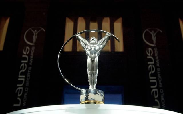 12 Mar 2001:  General view of the Laureus trophy designed by Cartier at the Laureus World Sport Awards Nominations for 2001 evening party at the Stadhaus in Berlin Germany.  DIGITAL IMAGE     Allsport/ Laureus/ Ian Mcilgorm Mandatory Credit: Allsport UK/ALLSPORT