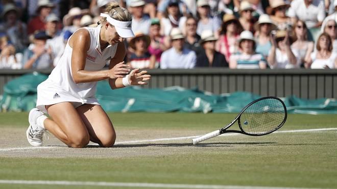 Angelique Kerber triumphierte im Finale von Wimbledon gegen Serena Williams