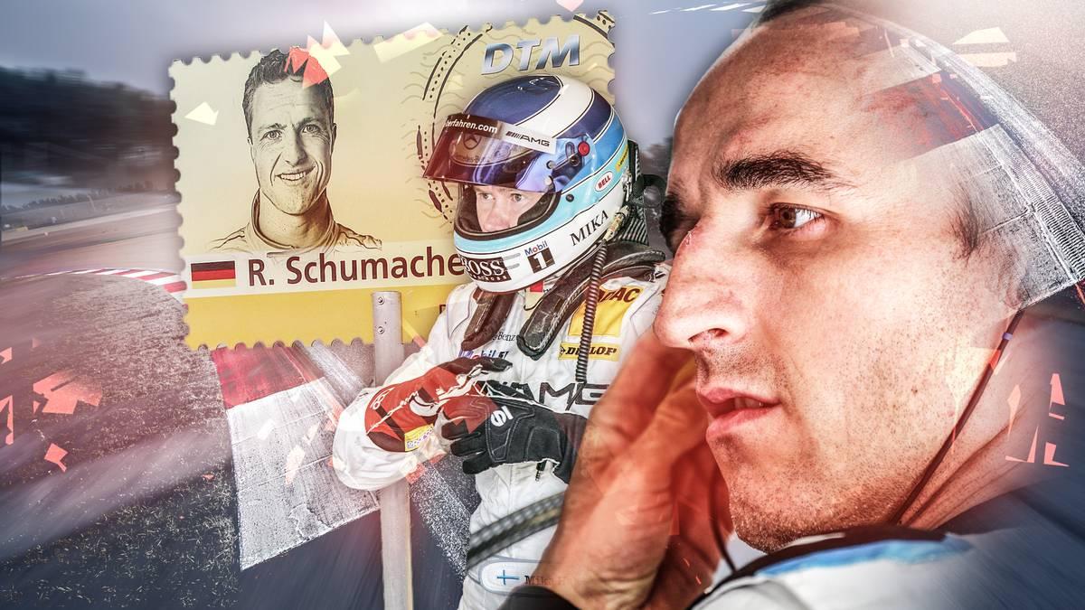 Robert Kubica (r.) wandelt auf den Spuren berühmter früherer Formel-1-Fahrer wie Ralf Schumacher und Mika Häkkinen