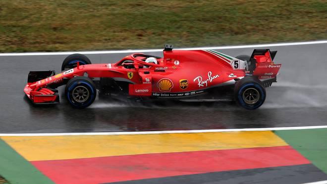 Sebastian Vettel hatte beim dritten freien Training in Hockenheim mit dem Regen zu kämpfen