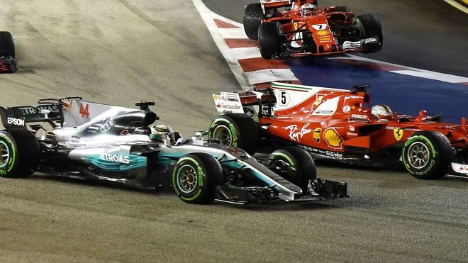 Formel 1 GP Singapur 2018 Live im TV, Ticker & Stream - Sebastian Vettel will in Singapur Boden auf Lewis Hamilton gut machen