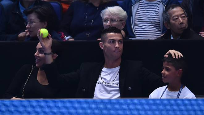 Cristiano Ronaldo (M.) besuchte die ATP-Finals in London