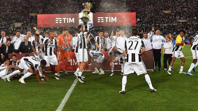 Die Juve-Stars feiern in Rom